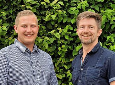 Lukas Mayer und Werner Schütz als Portrait Aufnahme